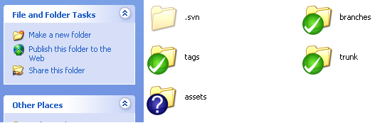SVN Repository with assets directory