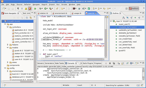 Aptana Studio web development tools and IDE