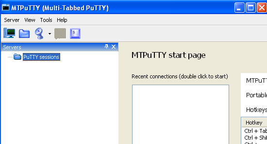 Multitabbed putty